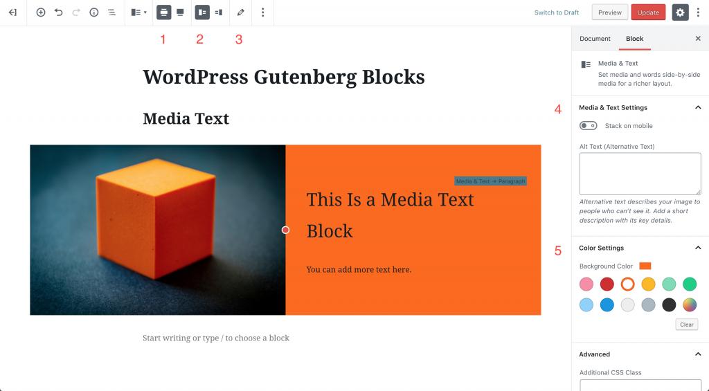 wordpress-gutenberg-block-media|ワードプレスグーテンべルグ 画像とテキスト