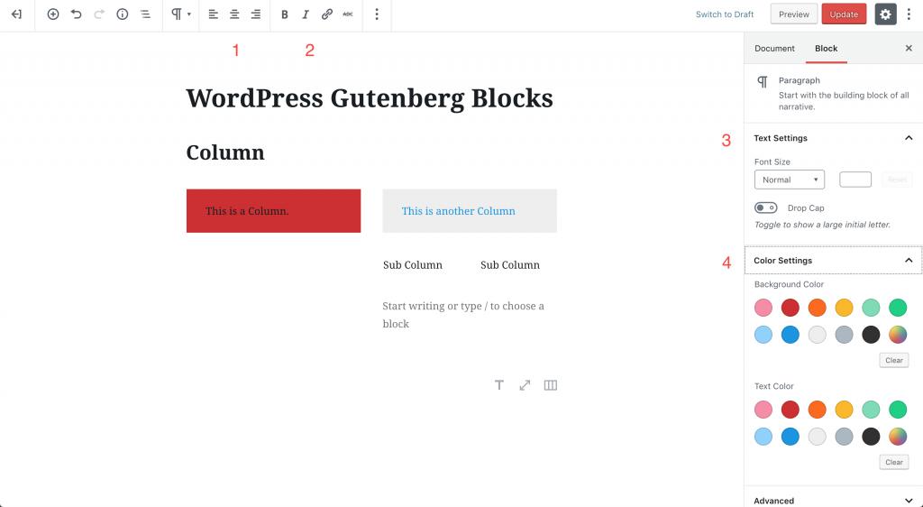 wordpress-gutenberg-blocks-column|ワードプレスグーテンベルグ カラム