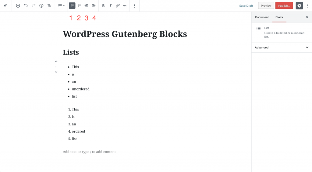 wordpress-gutenberg-blocks-list|ワードプレスグーテンベルグ リストブロック